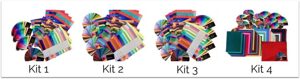 Color consultant draping kits colour drapes, flags, swatches for color analysis course training