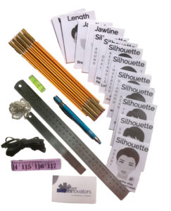 Online image consultant training tools contains rulers, face cards, tape measures