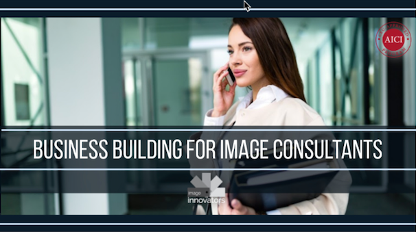 imaage of woman below text of IMage consultant training business program