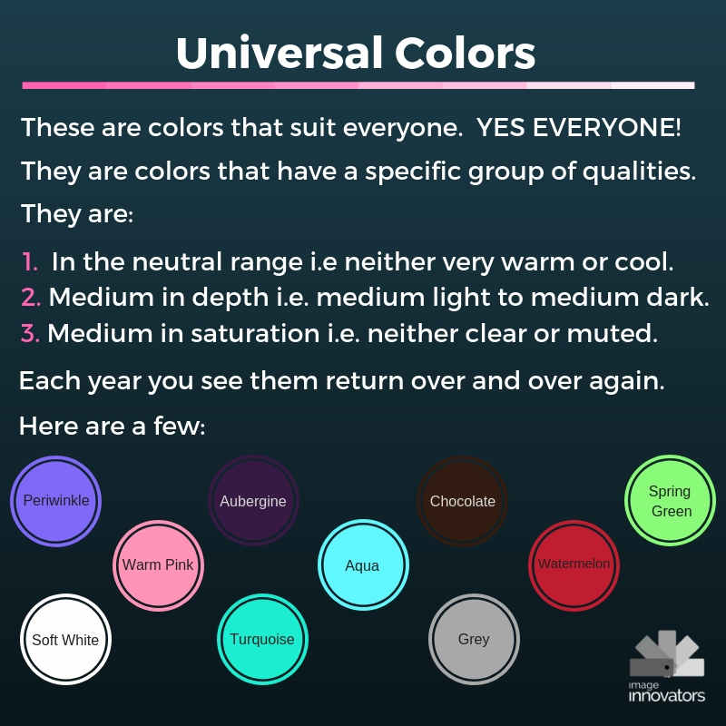 Universal Colors, Universal Colours