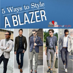 5 ways to style a blazer with image of 5 stylish men