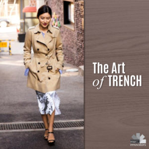 The art of the trench - how to wear a trench coat a wwoman in a trench coat